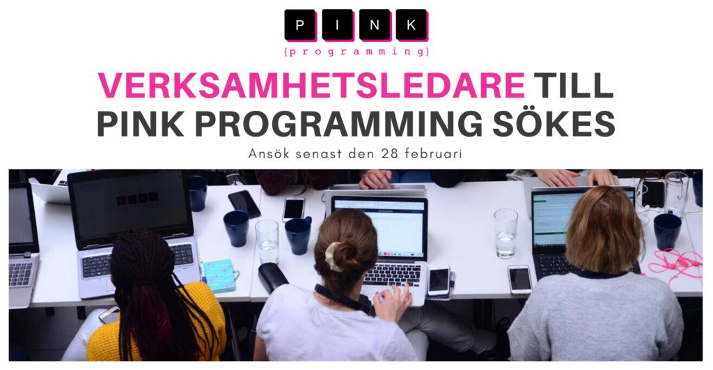 Verksamhetsledare till Pink Programming sökes. Ansök senast 28 februari